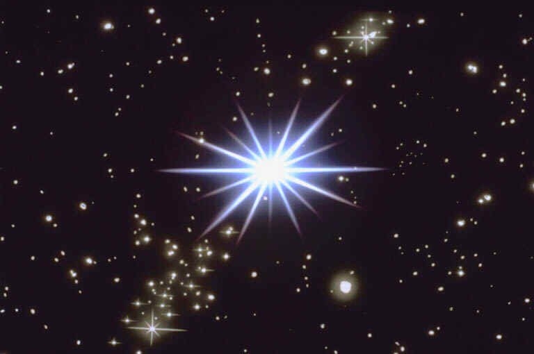 Star Brighty Bursting in Space