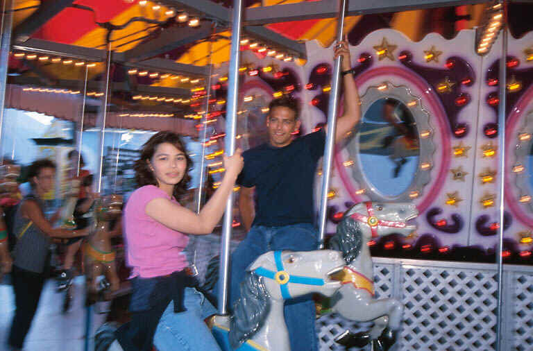 Teens on Carousel
